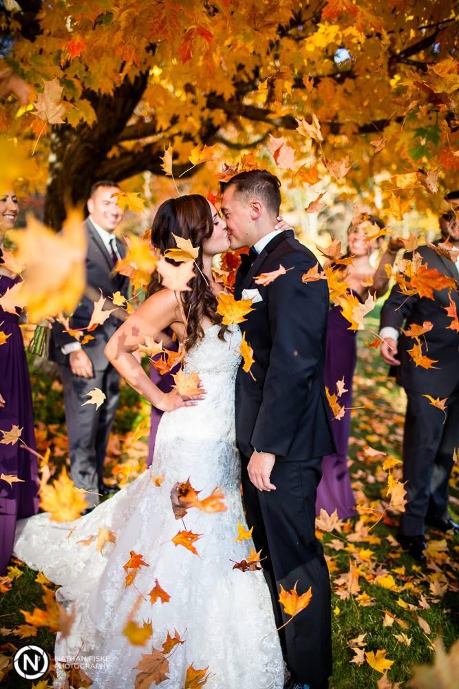 fall wedding autumn leaves
