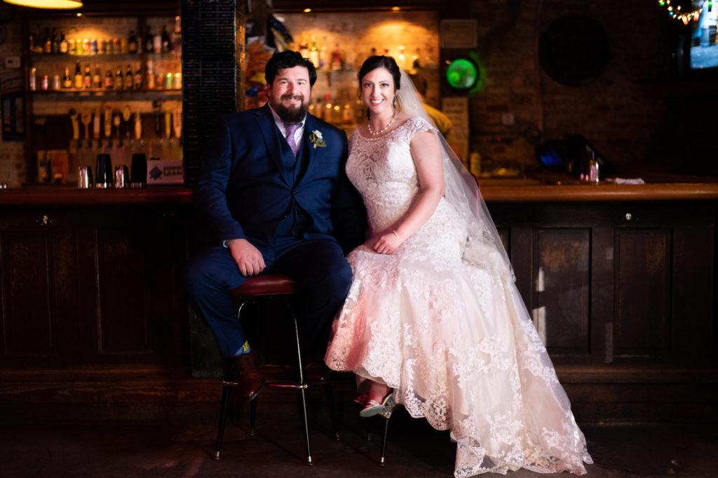 wedding couple photos in downtown Wilmington, NC